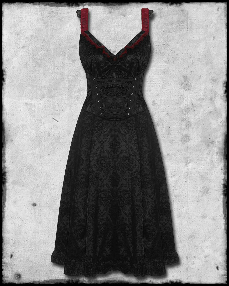 Details about living dead souls long black red gothic steampunk