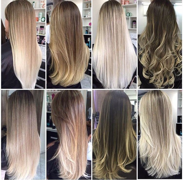 Different Shades Of Blondes Blonde Hair Shades Straight Blonde Hair Balyage Long Hair