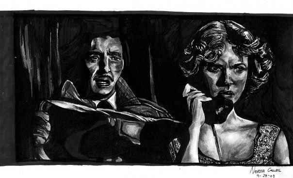 Pen & ink By the Caswell Twins Http://www.facebook.com/vanashartwork #realism #inkdrawing #sharpiedrawing  #draw #greyscale #movie  #filmart #dynamicduos #realisticdrawing #spooky #scary #horror #horrorfilm #choke #phone #phonekiller