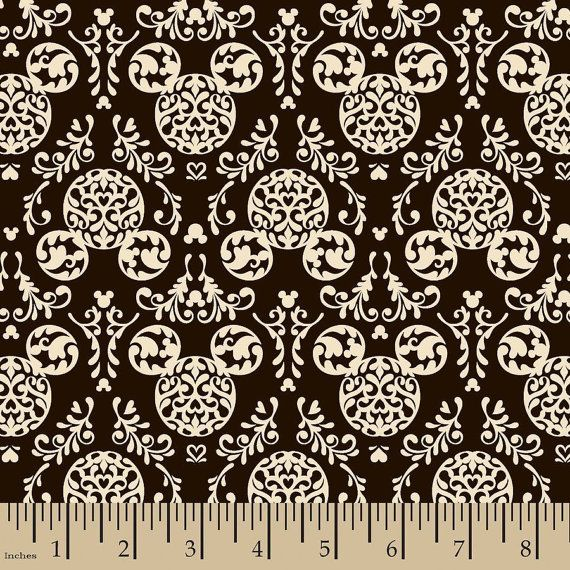 Hey, I found this really awesome Etsy listing at https://www.etsy.com/listing/212820699/mickey-mouse-damask-fabric-mickey-mouse