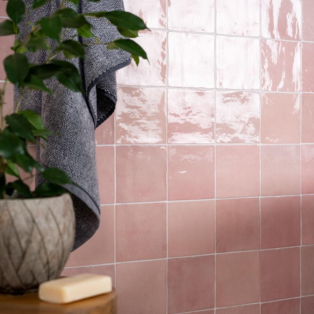 Vernice Bon Bon Pink Tiles in 2020 | Pink tiles, White ...