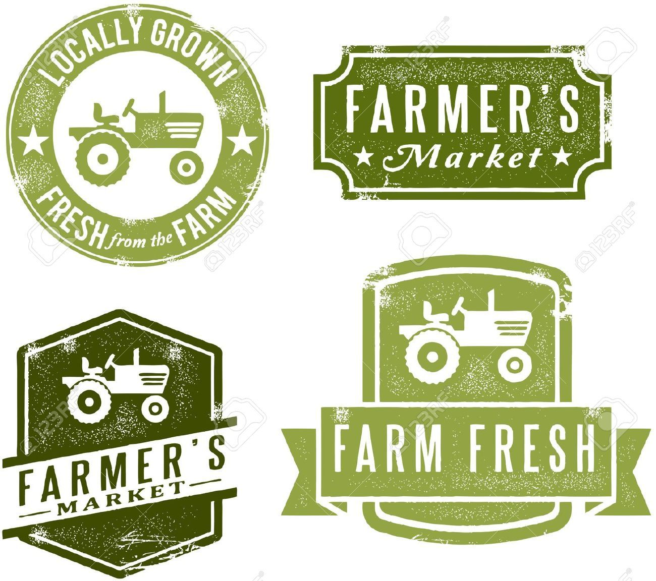 Vintage Style Farmers Market Stamps Royalty Free Cliparts Vectors And Stock Illustration Pic