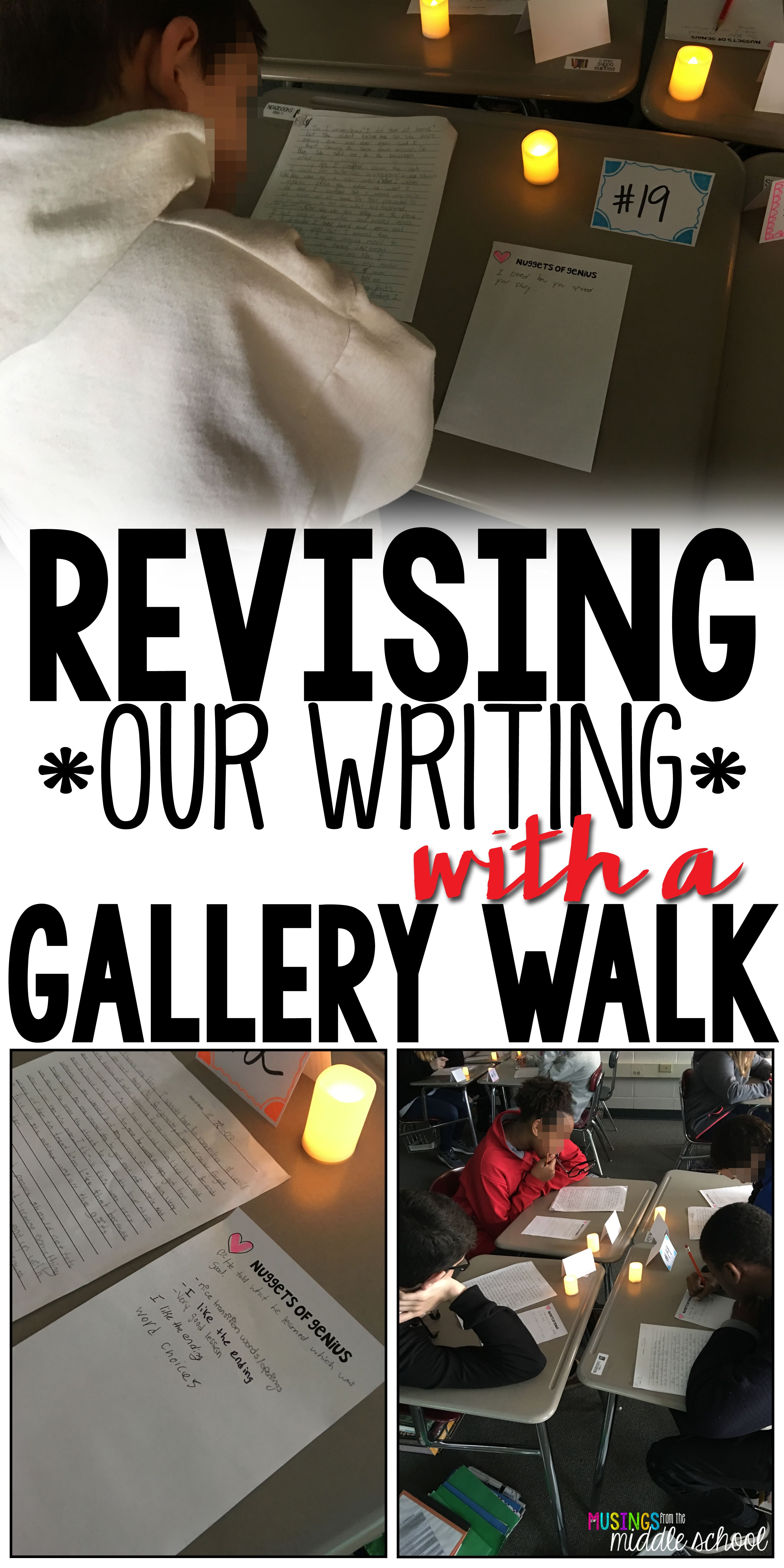 Host a Gallery Walk to Improve Writing   ELA   Middle school