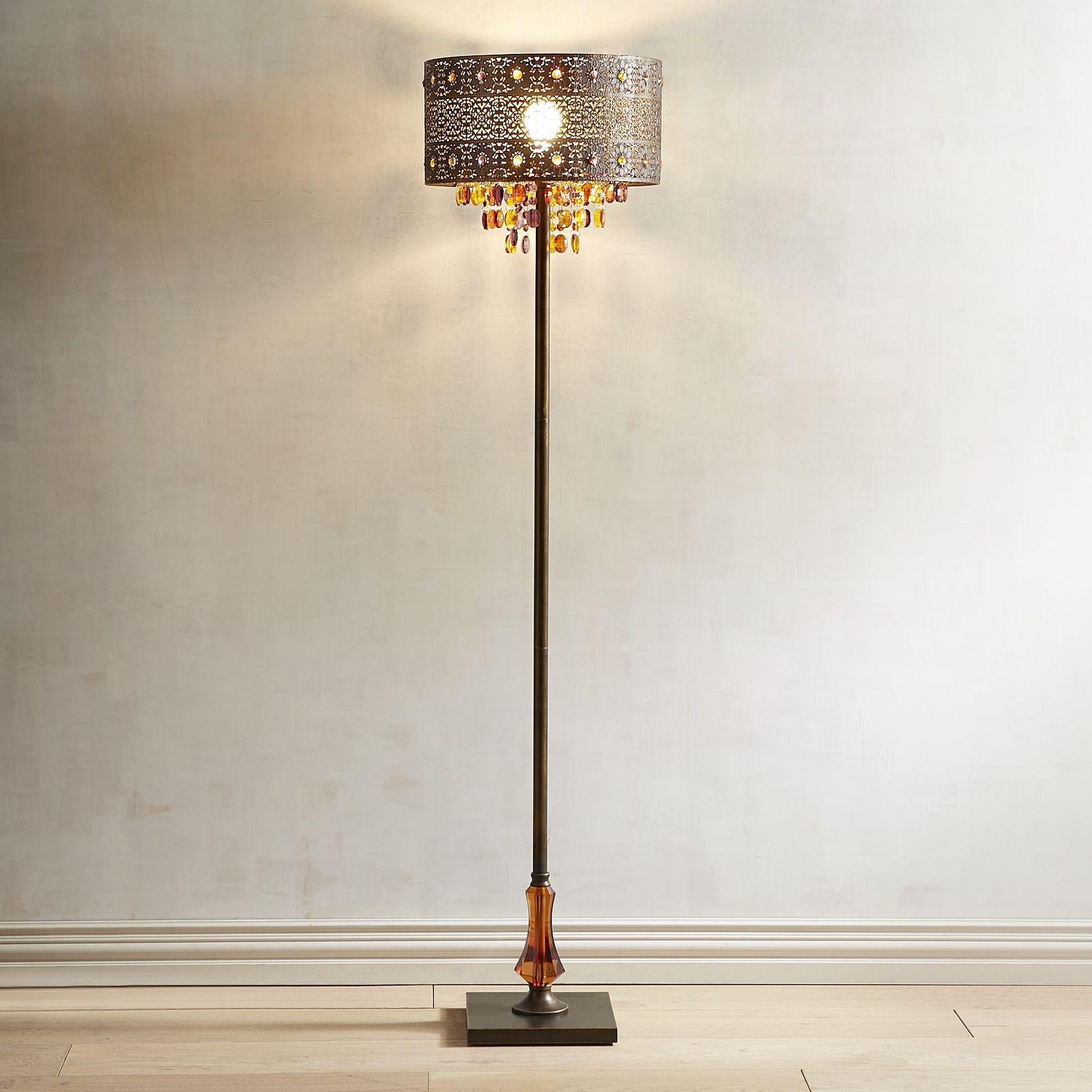 Bohemian Crystal Bronze Floor Lamp Bronze floor lamp