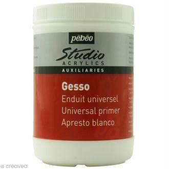 Gesso Blanc Pebeo Studio 1 L Colle Pour Tissu Creavea Acrylique