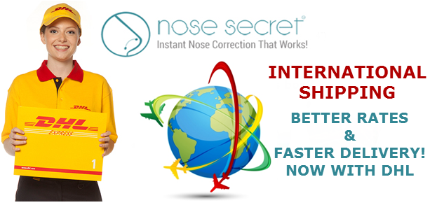 Nosesecret We Are Excited To Announce That We Are Working With Dhl To Provide Faster And Cheaper Shipping To All Our Internationa Nose Job Nose Nose Reshaping