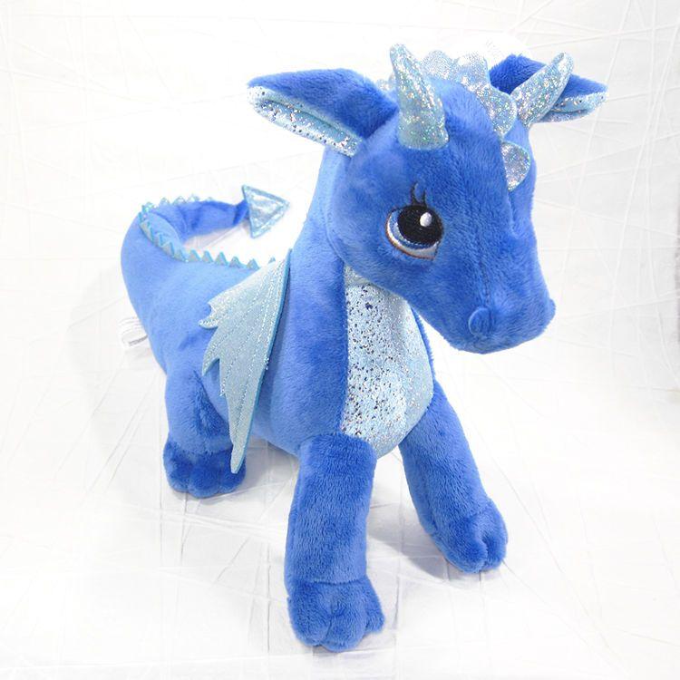 Indigo the Blue Dragon Stuffed Animal Soft Toy Sparkle Tales Aurora – Mystical Creatures