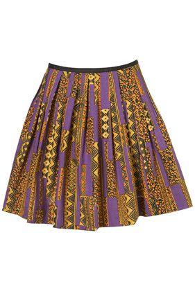 922b5e39d9 TopShop: Aztec Pleat Skater Skirt * Price: £34.00 * Colour: MULTI Aztec