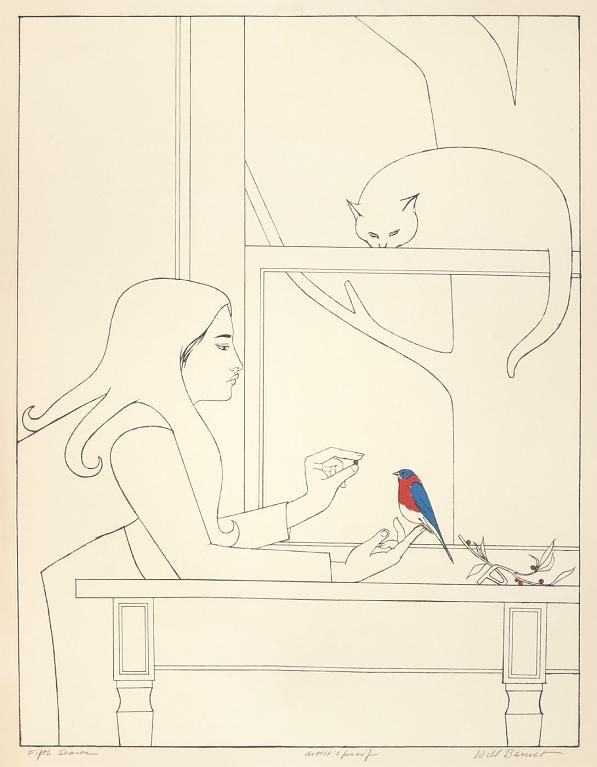 "Will Barnet (1911-2012) - ""Fifth Season"" - color lithograph on paper, 1977"