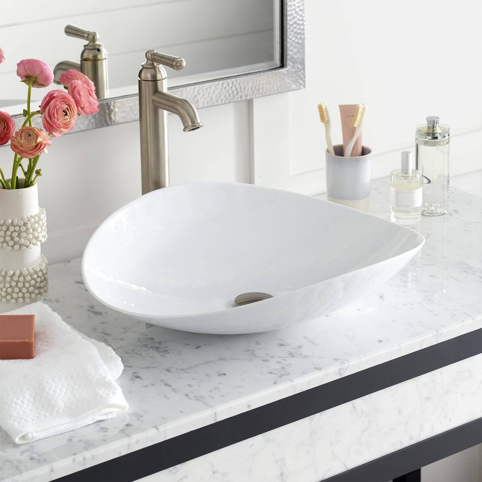 Sorrento Glass Vessel Bathroom Sink Native Trails In 2020 Glass Bathroom Sink Glass Bathroom Sink