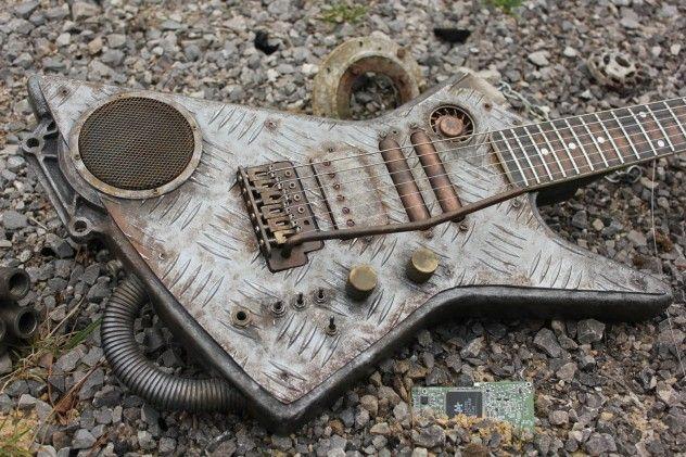 #cyberpunk #explorer custom #guitar by hutchinson guitars