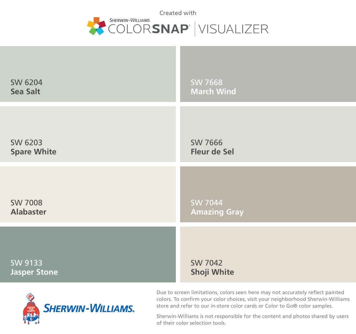 I Found These Colors With Colorsnap Visualizer For Iphone By Sherwin Williams Sea Salt Sw Exterior Paint