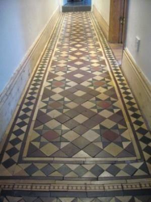 Encaustic And Geometric Tiled Floor Hallway Plans Pinterest