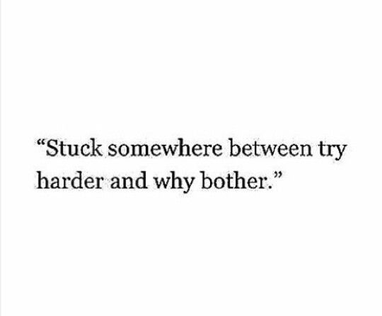 Stuck Somewhere Between Try Harder And Why Bother Exactly