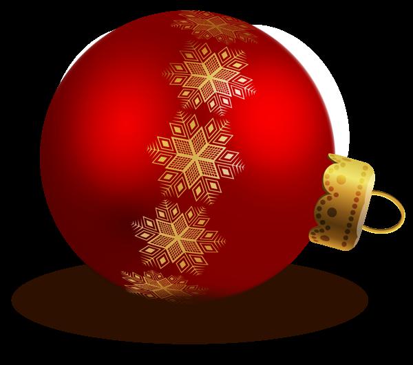 Christmas Ornament Clip Art | Transparent Red Christmas Ball ...