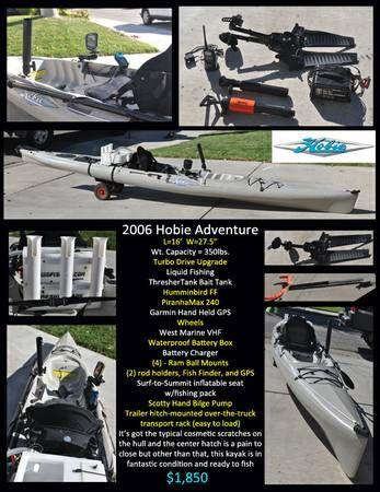 Hobie Adventure Fishing Kayak Craigslist Kayak Fishing Humminbird Kayaking