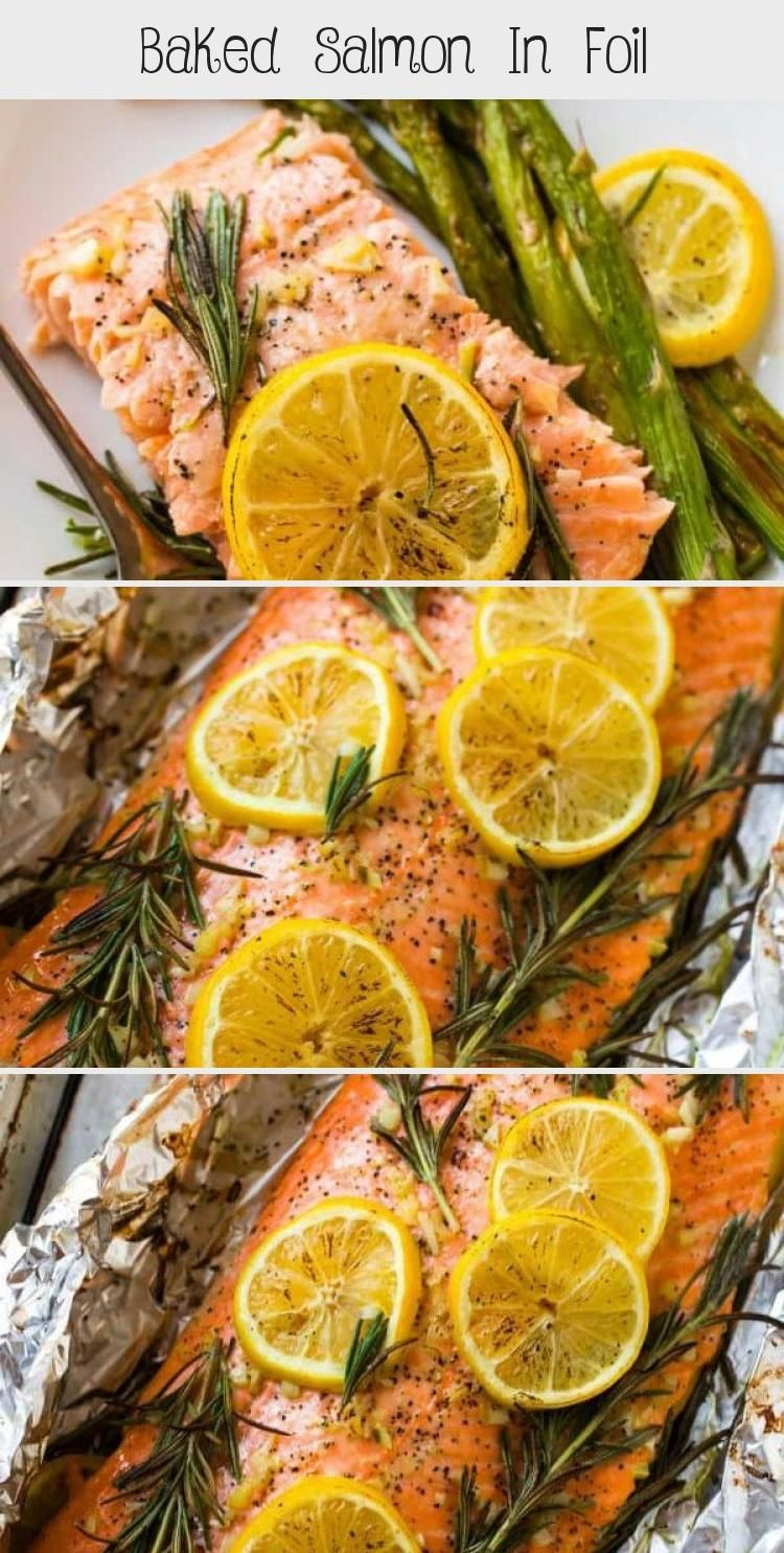 Photo of Easy Baked Salmon in Foil with Garlic, Lemon, and Herbs. One of the best simple,…