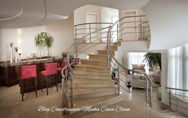 Minha Sala De Estar Em Inglês ~ Minha Casa Clean 30 Salas de Estar Decoradas com Escadas em