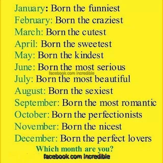 Birth month