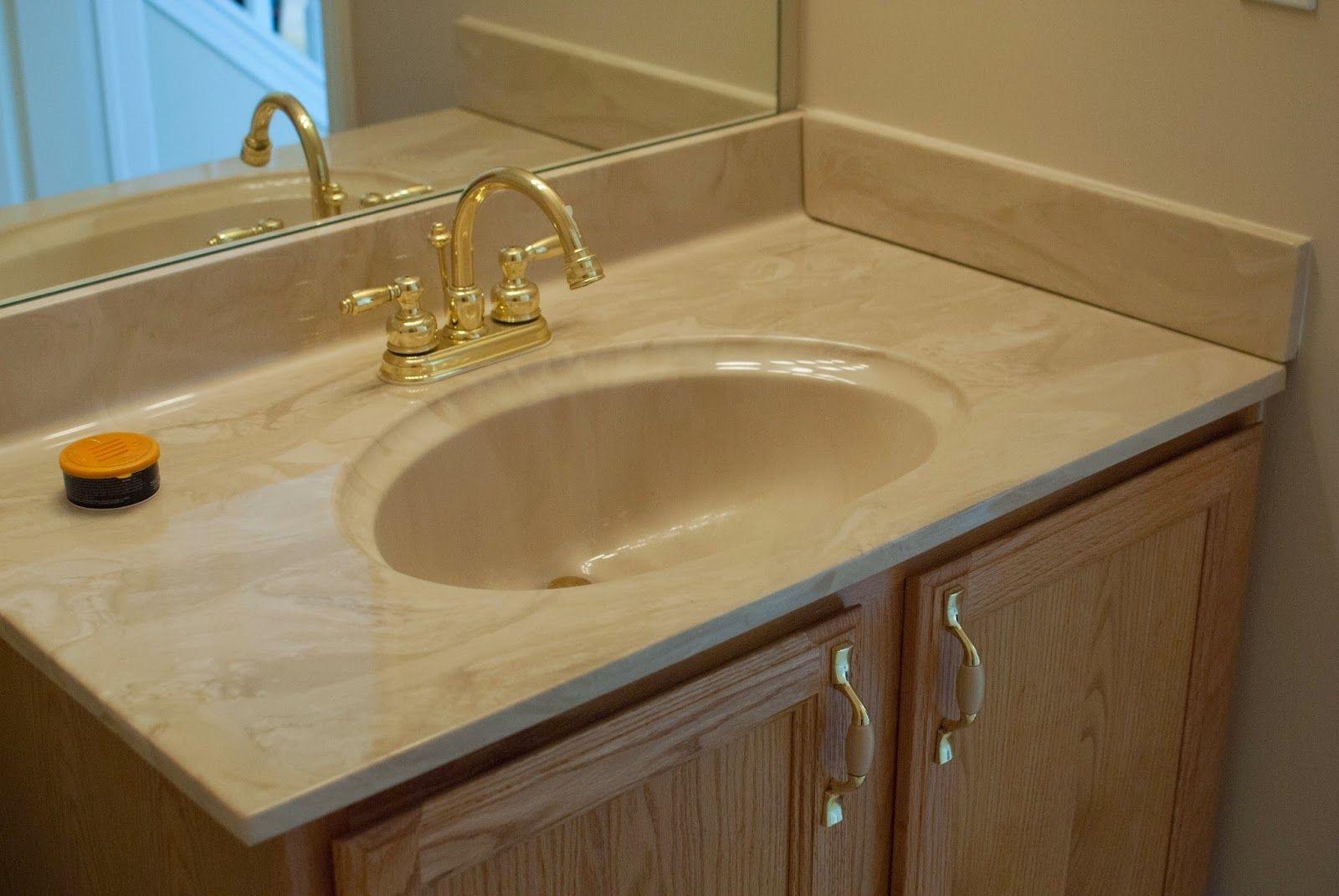 Integrated Sink Countertop Bathroom