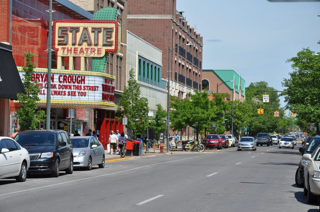 Downtown traverse city state theater in the summer of 2013