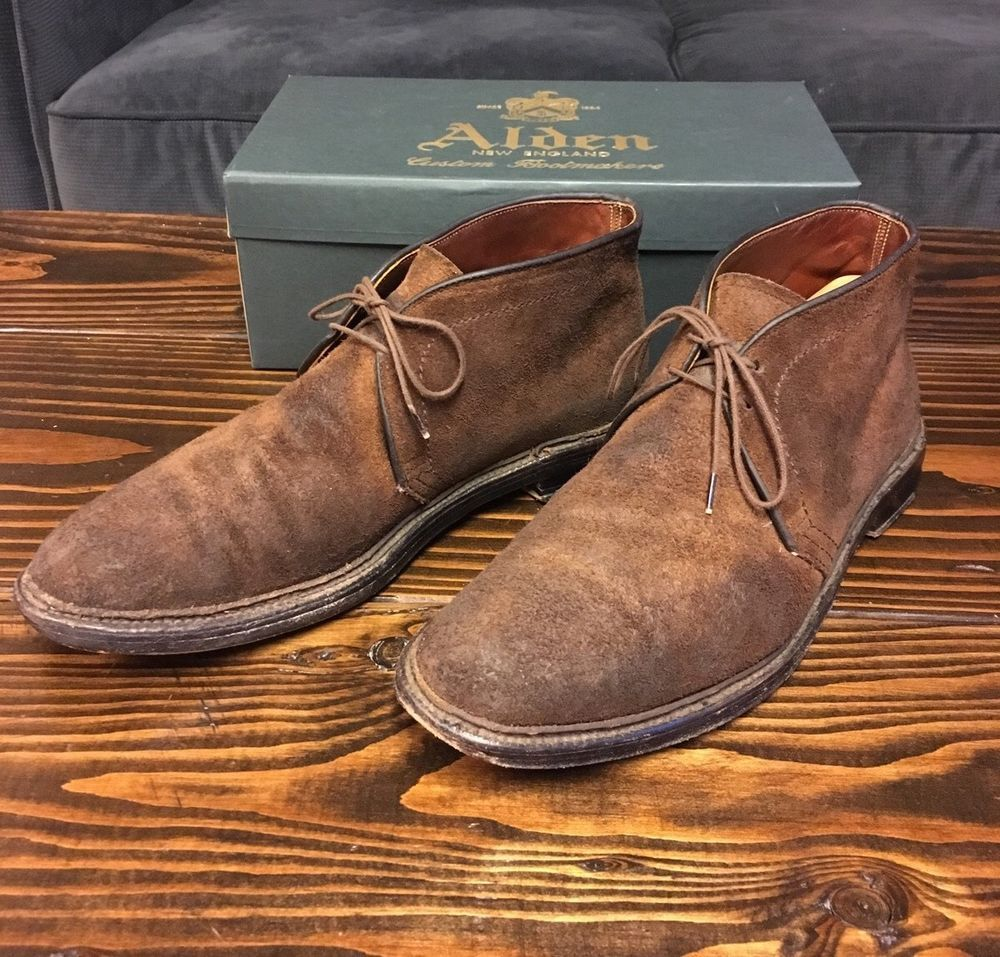 352e1d447 Alden For J. Crew Roughed Out Suede Chukka Boots Tobacco Brown Size 10 D  #Alden #ChukkaBoots