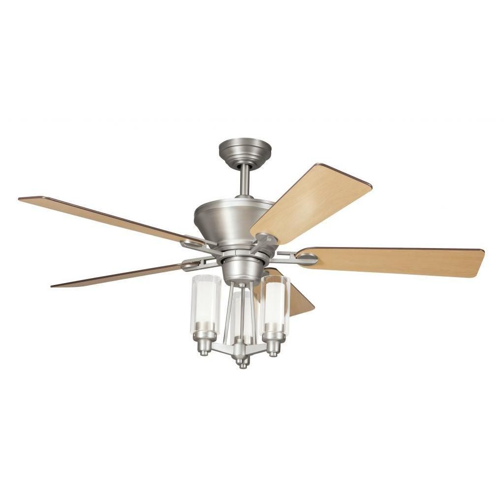 Transitional Brushed Nickel Ceiling Fan And Light Kit Ping Great Deals On