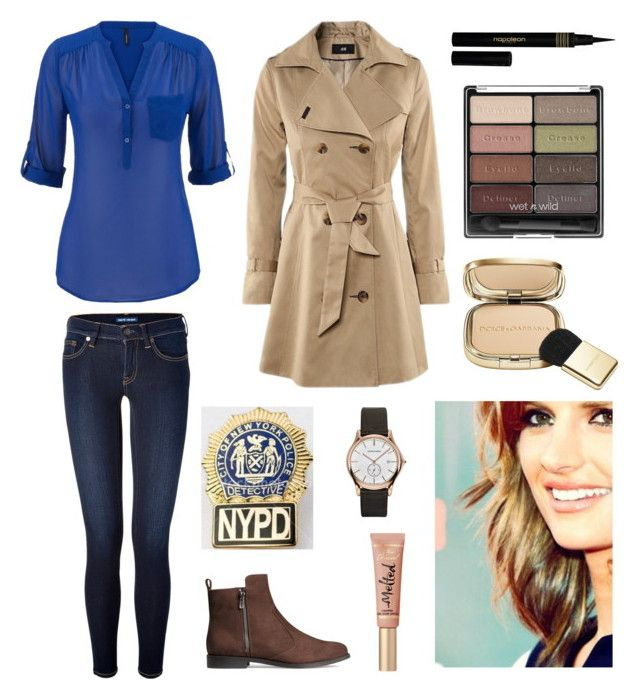"""""""Detective Beckett : )"""" by ragendritvisha ❤ liked on Polyvore featuring Polo Ralph Lauren, POLICE, H&M, Dolce&Gabbana, Wet n Wild, Napoleon Perdis, Emporio Armani, castle, StanaKatic and detective"""