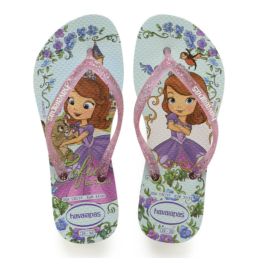 Havaianas Kids/' Slim Princess Sofia Sandal Purple//Lavender