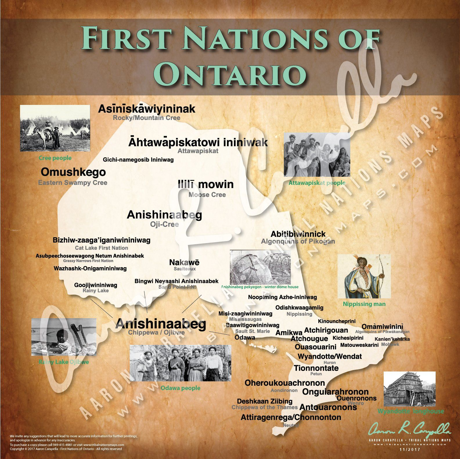 Tribal Nations Of Ontario Map In