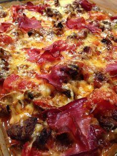 Low Carb Auflauf im Pizza Style Nahaufnahme