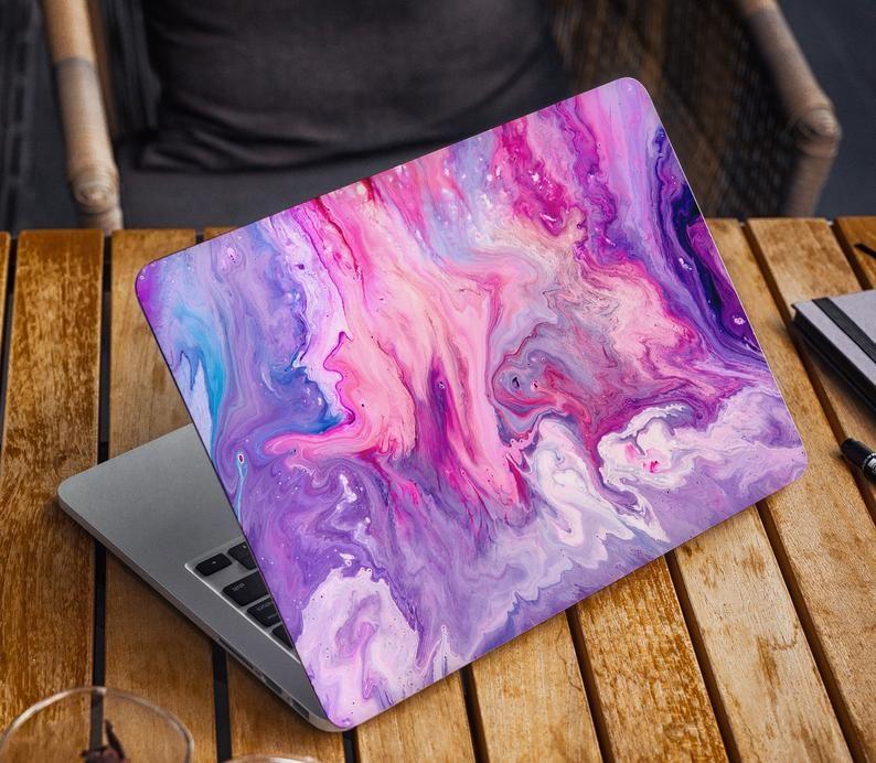Cosmik Pink Marble Laptop Skin Watercolor Pattern Macbook Skin