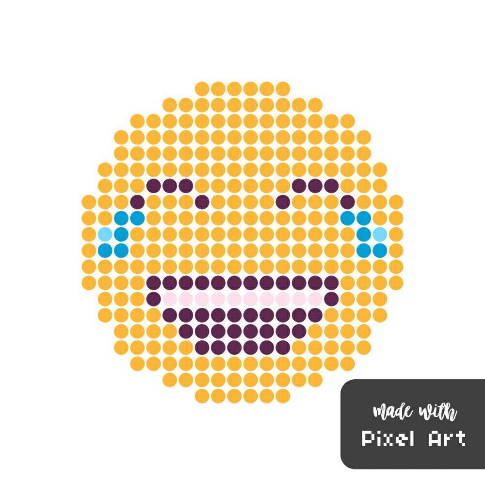 Smiley mort de rire en pixel art . ( Réalisé avec l'application pixel art ) | pixel art | Pixel ...