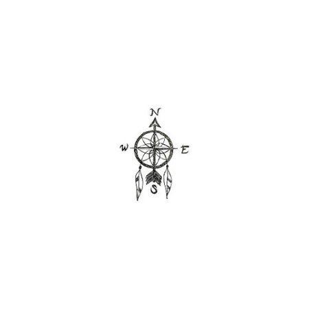 Tattify Dreamcatcher Compass Temporary Tattoo - Pursuit (Set of 2)