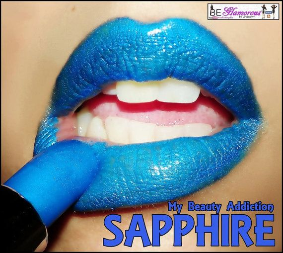 Blue Lipstick Color Rich Mineral by MyBeautyAddiction on Etsy, $7.50
