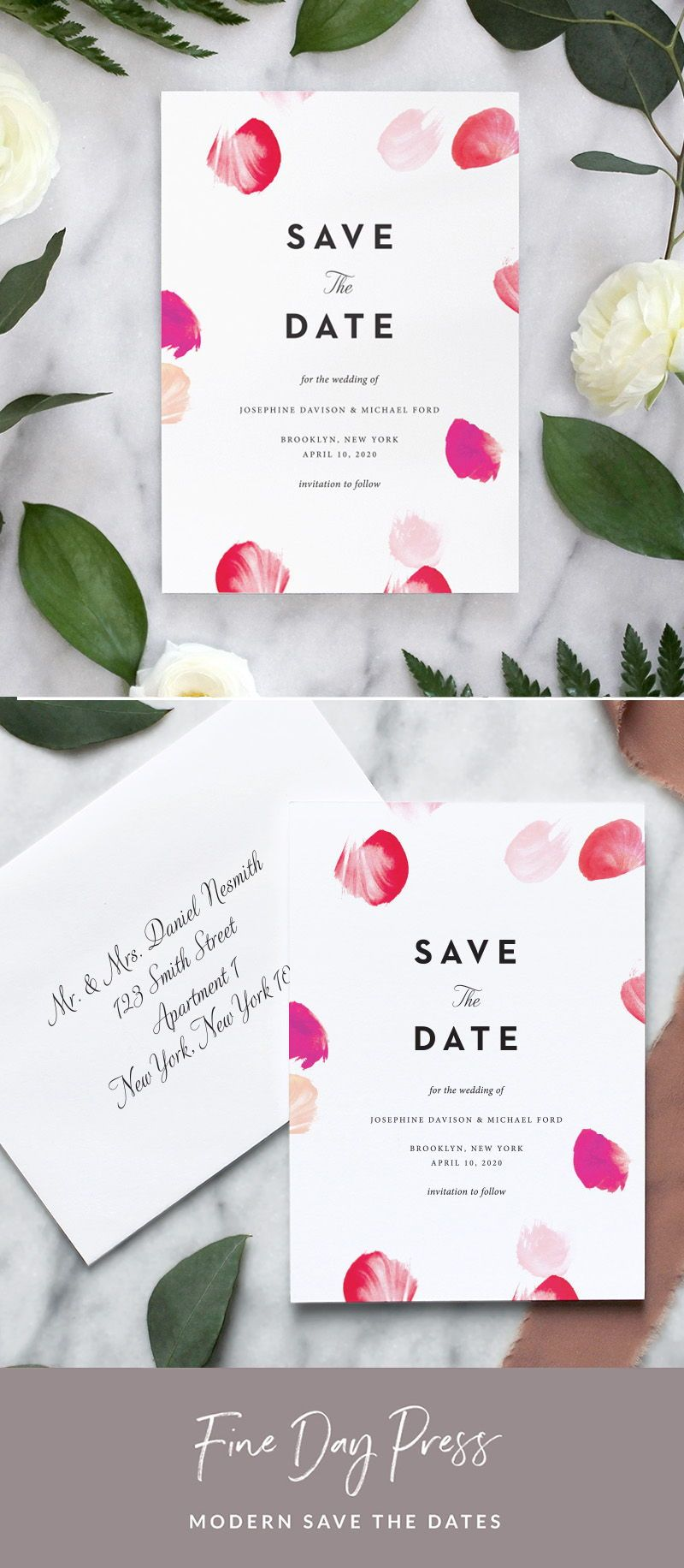 5x7in with envelopes Printed Photo Save our Date Wedding Save the Date Printed Cards
