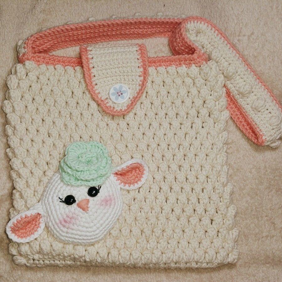 Süße Tasche für Kids mit einem niedlcihen Schaf - Häkelanleitung via ...