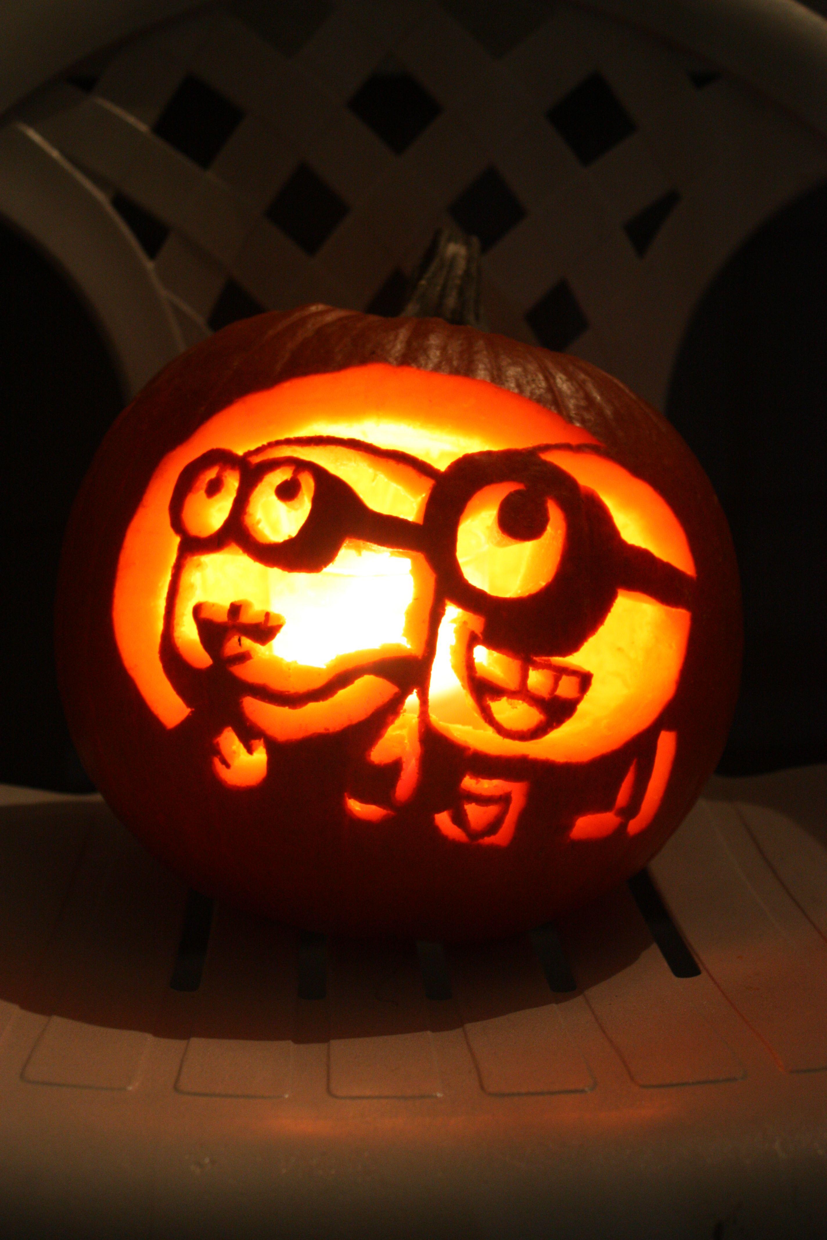 despicable me minon pumpkin minions halloween calabazas rh pinterest com mx