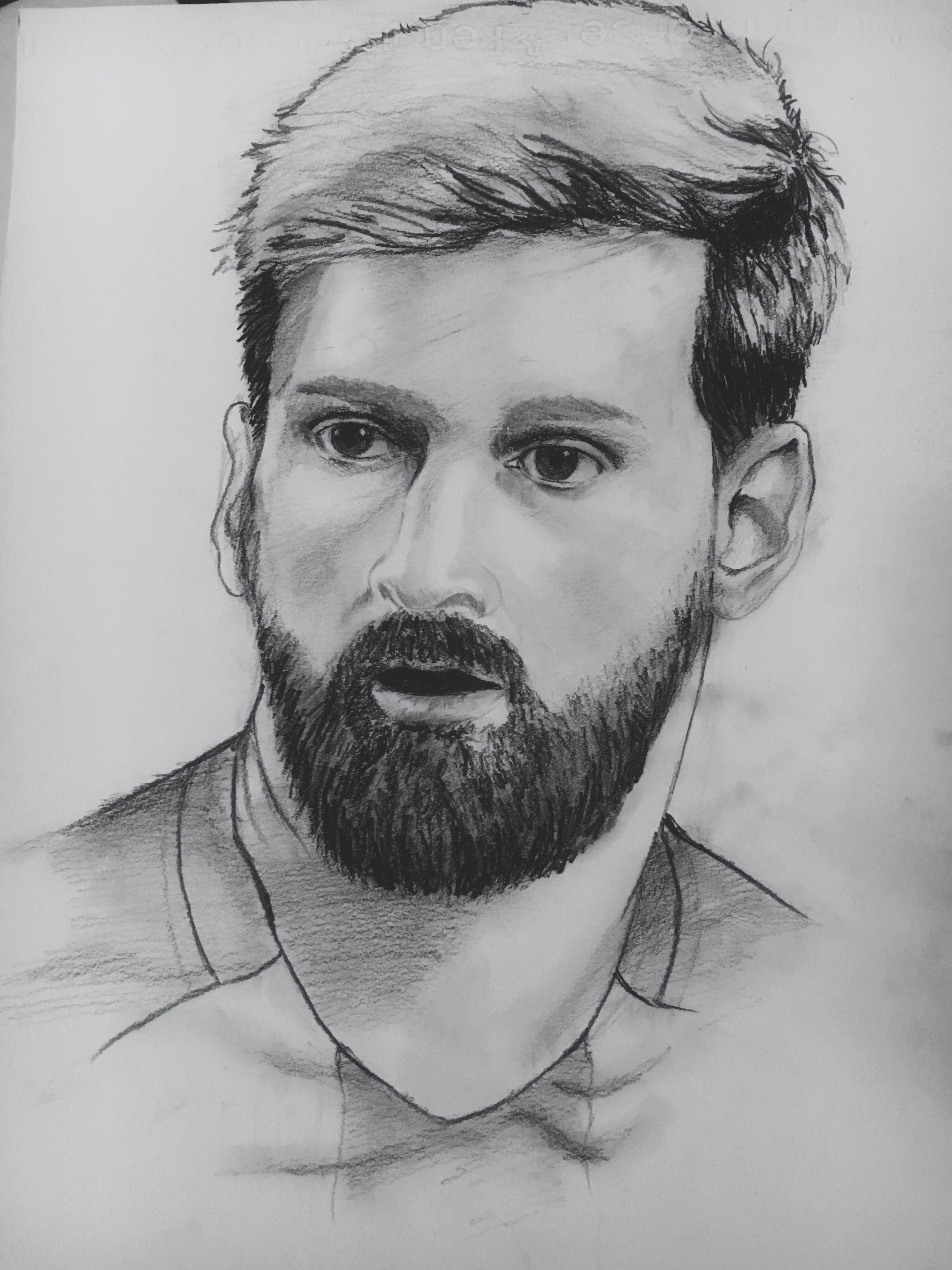Messi drawing messi marvel my drawings portraits drawings portrait paintings