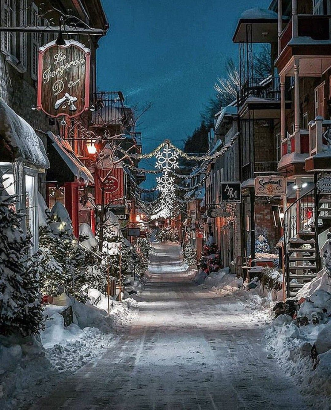 White Christmas In Canada.I Want To Live Outside A Town That Looks Like This