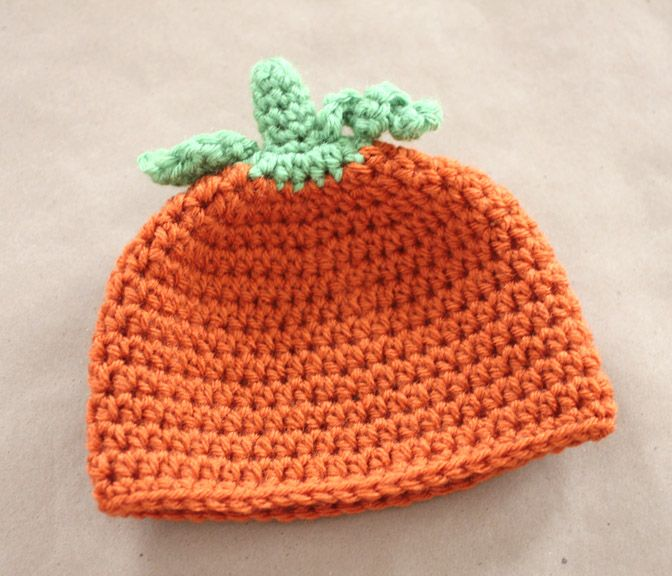 How To Knit A Baby Pumpkin Hat Trick