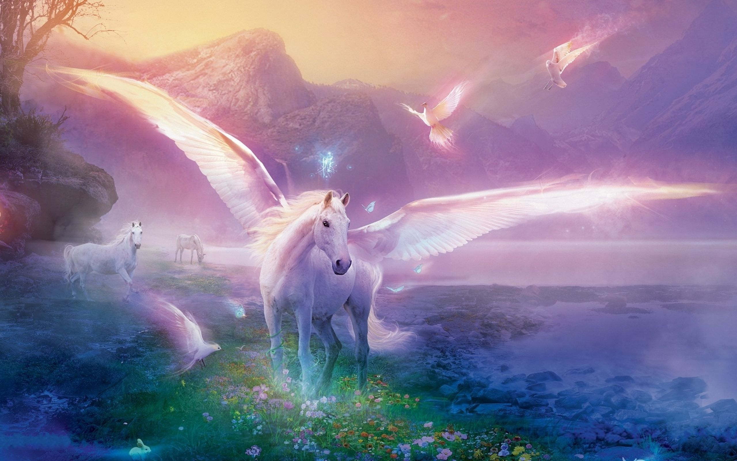 Download 2560x1600 Fantasy Unicorn Wallpaper/Background ID