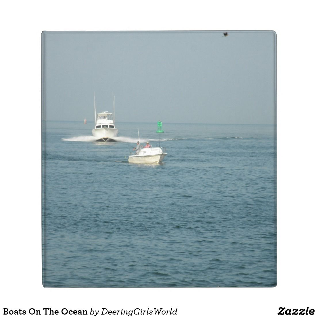 Boats On The Ocean 3 Ring Binder