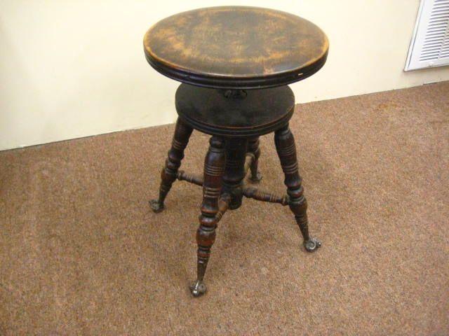 Round Piano Stools | Antique Piano Stool   Adjustable Height