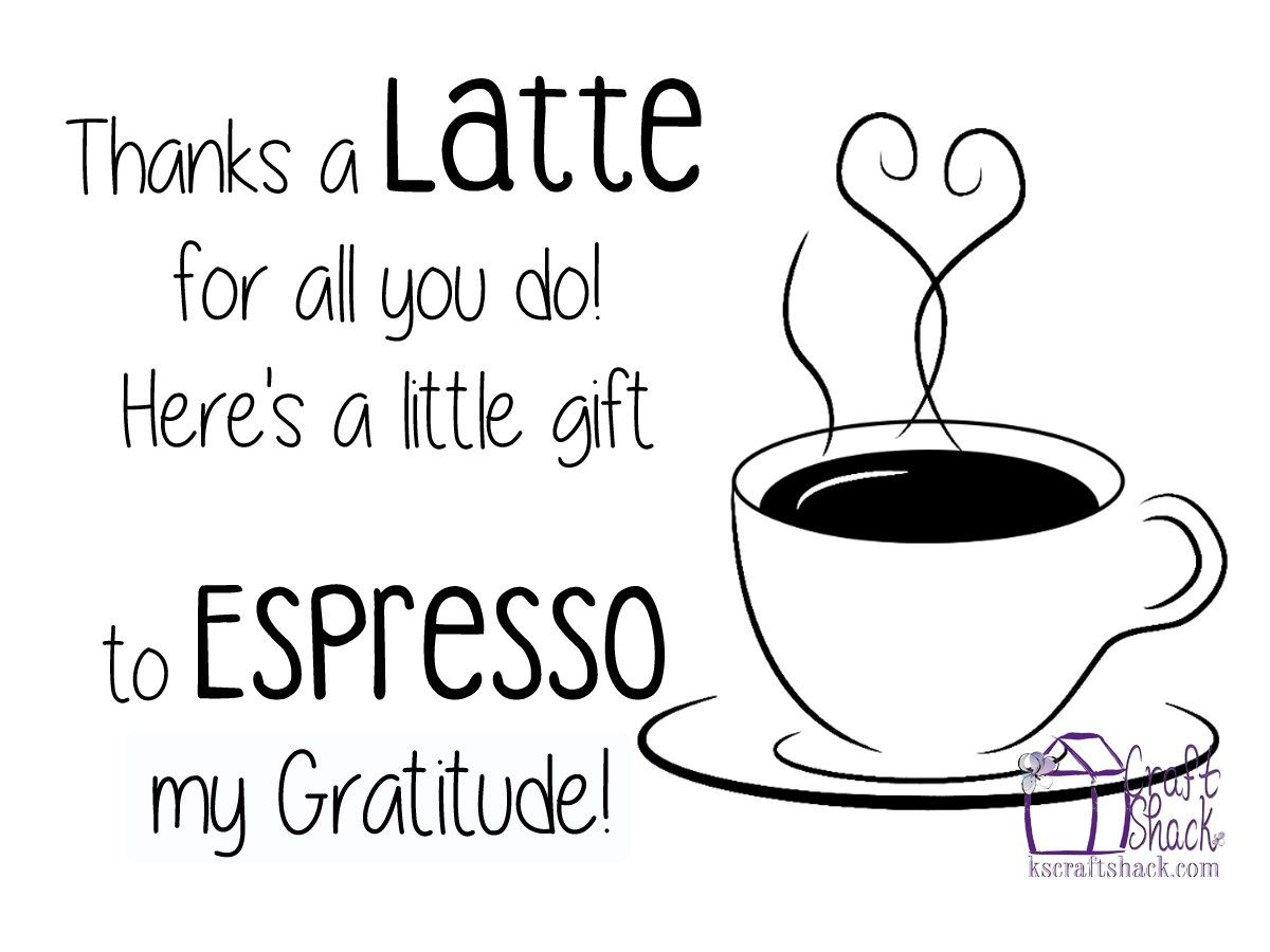 Teacher appreciation gift thanks a latte for all you do Thanks for all you do gifts