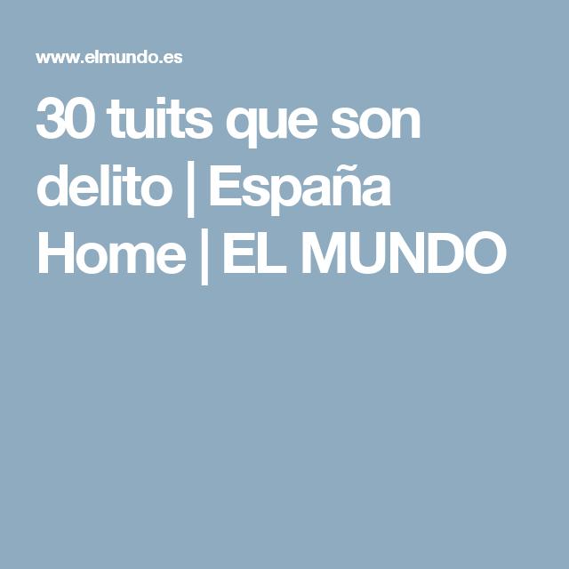 30 tuits que son delito | España Home | EL MUNDO