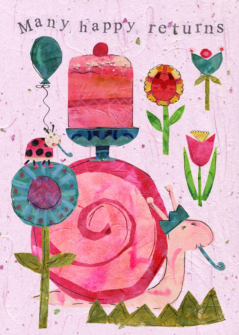 Birthday Snail by Tracey English www.traceyenglish
