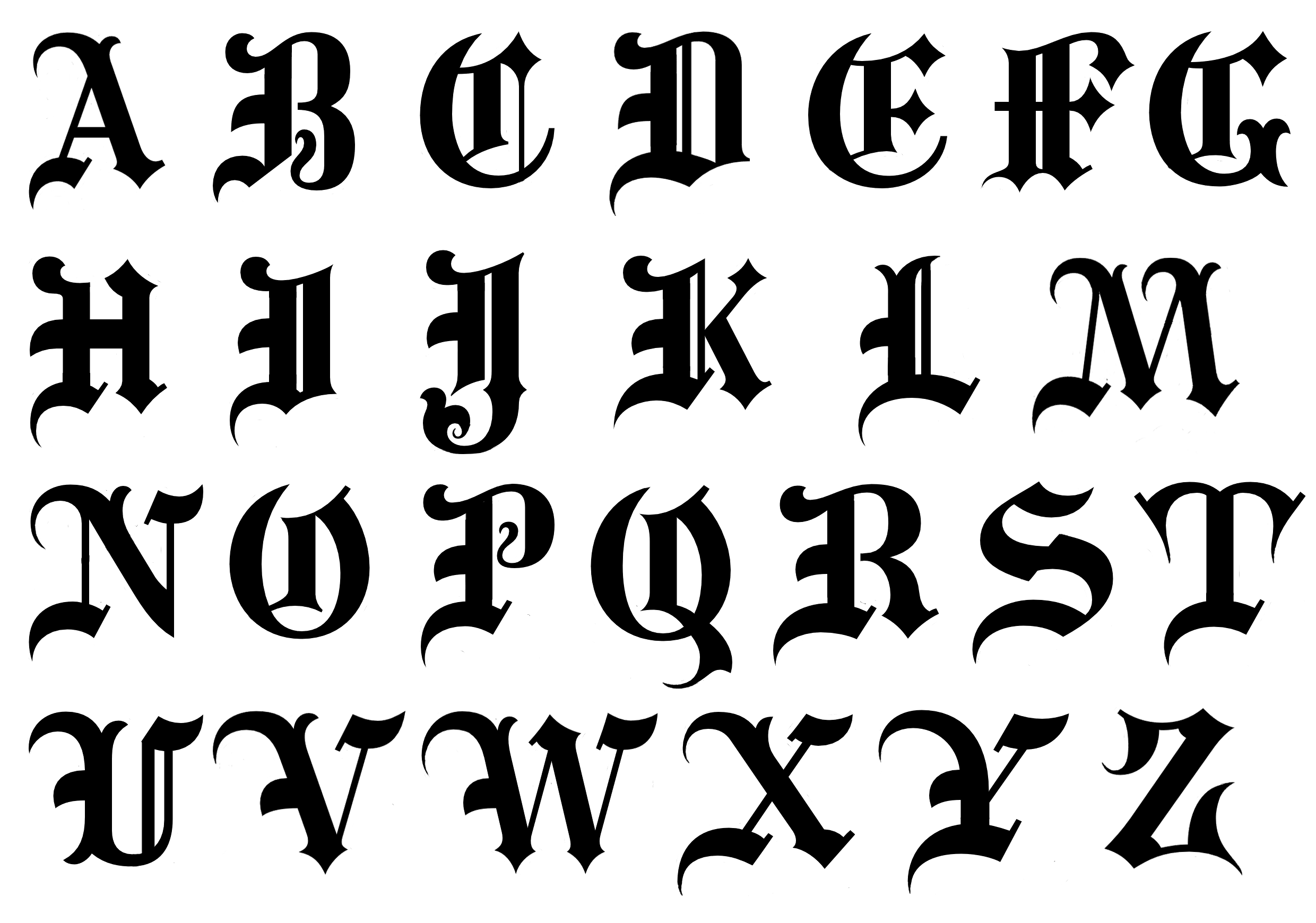 Old Calligraphy Font Free Goth Letters Related Keywords And Suggestions Goth Letters