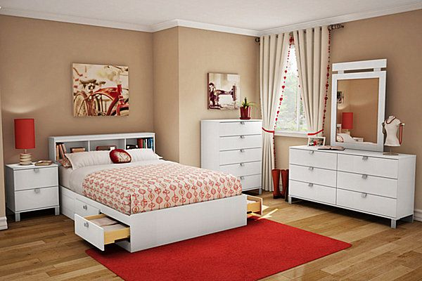 Bedroom ideas for teenage girls red Ikea Feminine Touch For Bedroom In Tan And Red Color Pinterest Feminine Touch For Bedroom In Tan And Red Color Bedroom Ideas