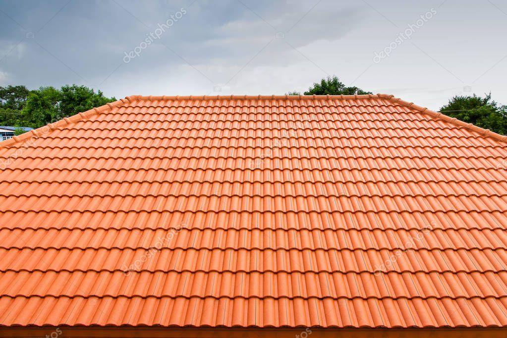 Home Building Construction Roof Tiles Concrete Orange